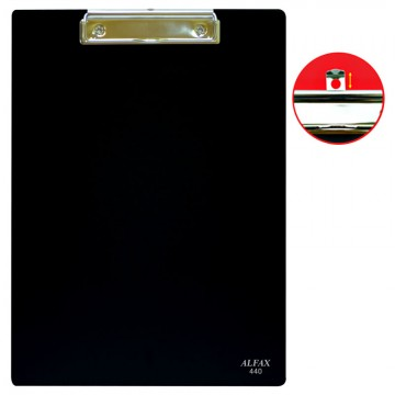 ALFAX 440 PVC Clipboard A4 Black