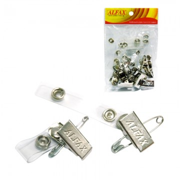 ALFAX 114 Pass Clip with Safety Pin 10's
