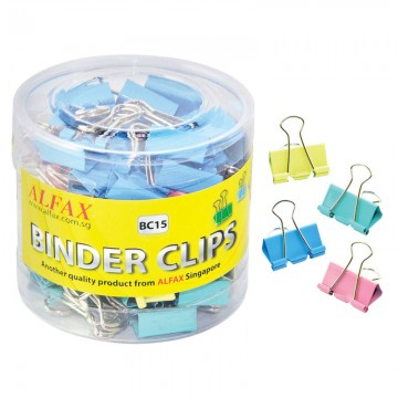 ALFAX BC15 Colour Binder Clip 15mm 60's