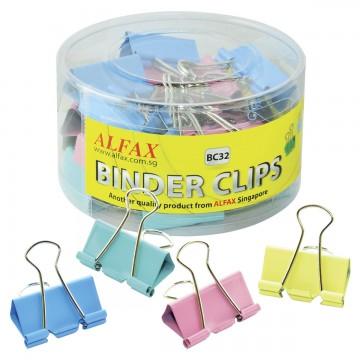 ALFAX BC32 Colour Binder Clip 32mm 24's