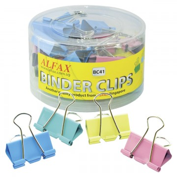 ALFAX BC41 Colour Binder Clip 41mm 24's
