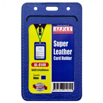 ALFAX AL814V Leather Card Holder 54x90mm 5's Blue