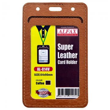 ALFAX AL814V Leather Card Holder 54x90mm 5's Coffee