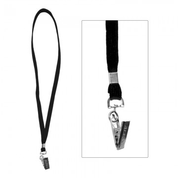 ALFAX 112 Lanyard with Metal Clip 10's Black
