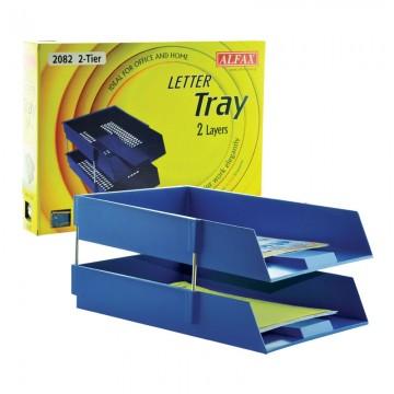 ALFAX 2082 Letter Tray 2Tier Blue