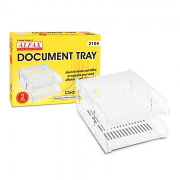 ALFAX 2104 Letter Tray 2 Tier A4 Clear