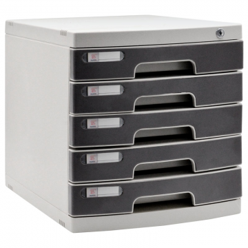 ALFAX 605 5 Drawer Tray with Lock Black