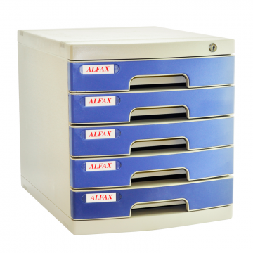 ALFAX 605 5 Drawer Tray with Lock Blue