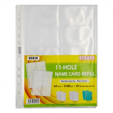 ALFAX NCR10 Name Card Holder Refill 11 Hole A4 10's
