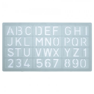ALFAX 40014 Number Template 20mm