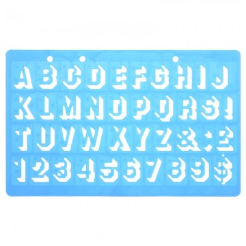ALFAX 40026 Number Template 20mm