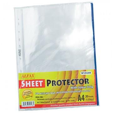 ALFAX SP0520B Sheet Protector 11 Hole Refill Blue Edge 20'