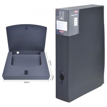 ALFAX F255 Plastic Box File 55mm A4 Black