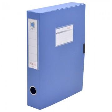 """ALFAX S828 Plastic Box File 2"""" A4 Blue"""