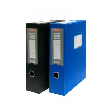 """ALFAX S838 Plastic Box File 3""""  A4 Blue"""
