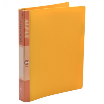 ALFAX CH3022 Clear Holder Refillable 30 Hole A4 orange