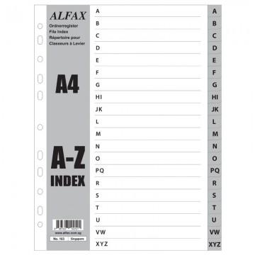ALFAX 103 PP Grey Divider A-Z A4