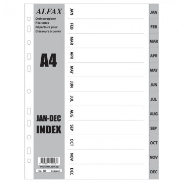 ALFAX 109 PP Grey Divider Jan-Dec A4