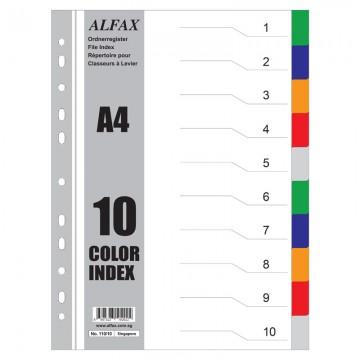 ALFAX 11010 PP Divider 10 Colours A4