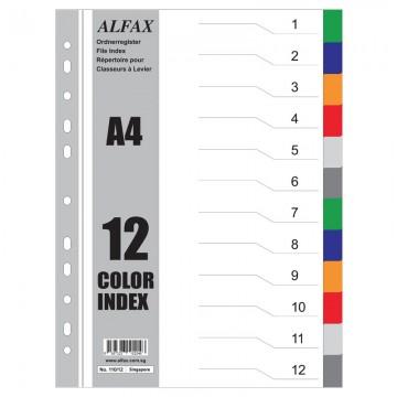 ALFAX 11012 PP Divider 12 Colours A4