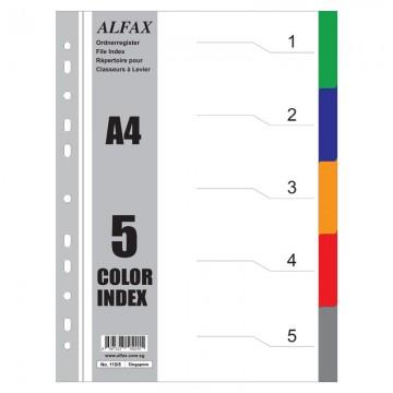 ALFAX 1105 PP Divider 5 Colours A4