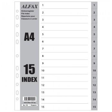 ALFAX 115 PP Grey Divider 1-15 A4