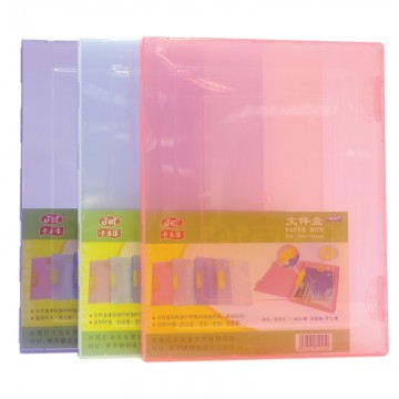 JEF B25 File Case 245x310x22mm Transparent Purple