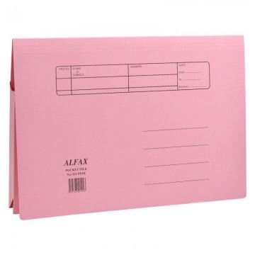 ALFAX 102 Paper Pocket File Pink
