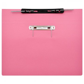 ALFAX 10P Paper Spring File + U Pin F4 Pink