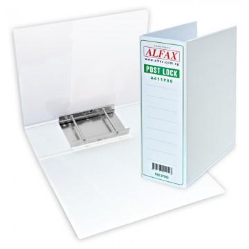 ALFAX A411P80 Post Lock 2Pins 80mm A4 White