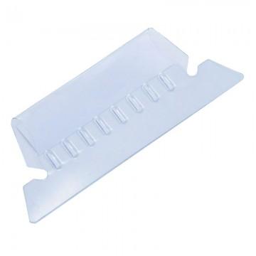 """ALFAX SQ9511T Plastic Tab 2"""" 25's Clear"""