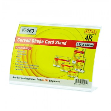 ALFAX K263H Curved Shape Card Stand102x151mm 4R