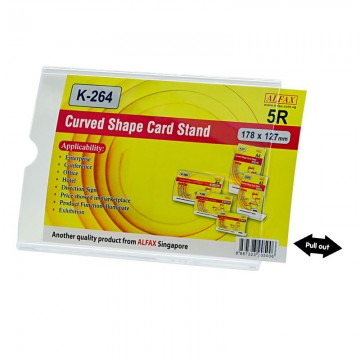 ALFAX K264H Curved Shape Card Stand 127x178mm 5R