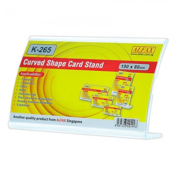 ALFAX K265H Curved Shape Card Stand 80X150mm