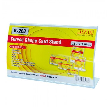 ALFAX K268H Curved Shape Card Stand 150x280mm