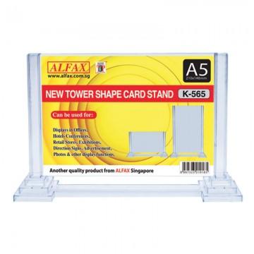 ALFAX K565 Horizontal Tower Card Stand A5