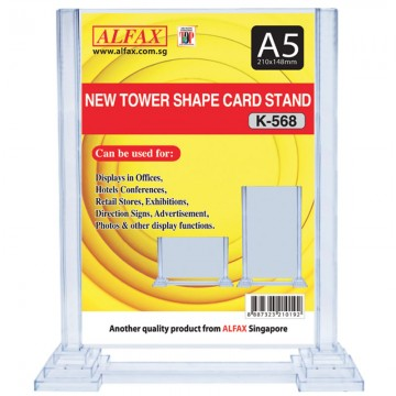 ALFAX K568 Vertical Tower Card Stand A5