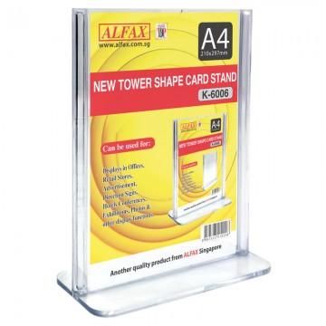 ALFAX K6006 Vertical Tower Card Stand A4
