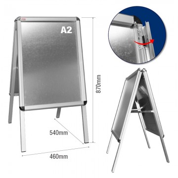 ARTEX JHA2002 Double Side Menu Board A2