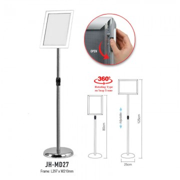 ARTEX JHMD27 Silver Snap Frame A4 Display Stand