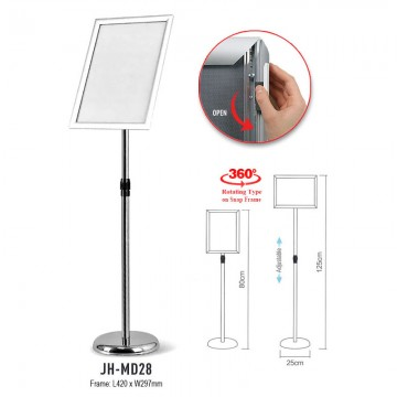 ARTEX JHMD28 Silver Snap Frame A3 Display Stand