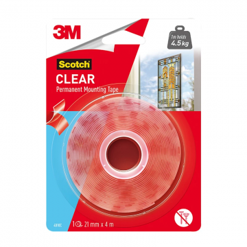 3M 4010C2M Mounting Tape 21mmx2m Clear