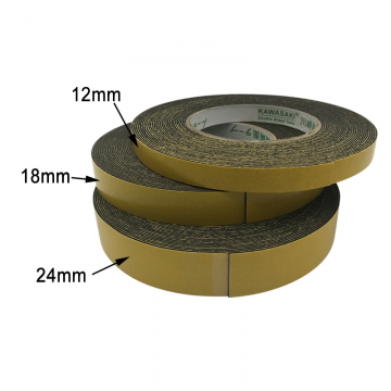 KAWASAKI Double Sided Foam Tape 12mmx10m Black