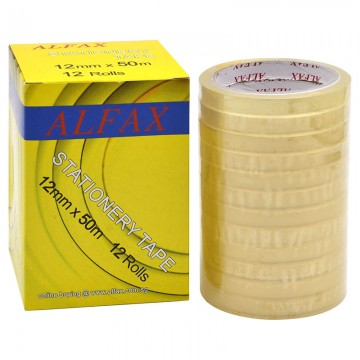 ALFAX 1250N Stationery Tape 12mmx50m