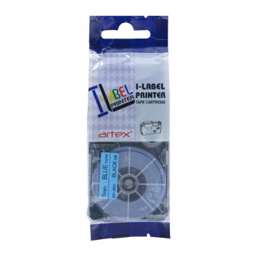 AR9BU COMPATIBLE Label Tape for Casio 9mm Black on Blue