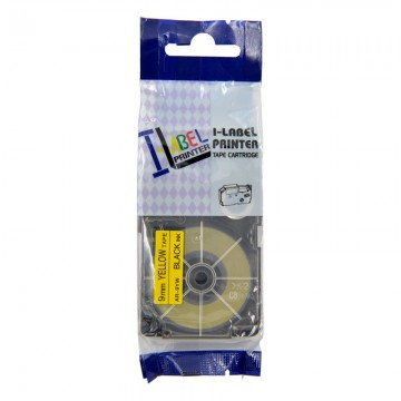AR9YW COMPATIBLE Label Tape for Casio 9mm Black on Yellow