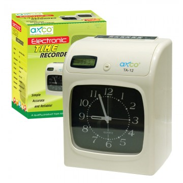 AXCO TA12 Electronic Time Recorder Analog