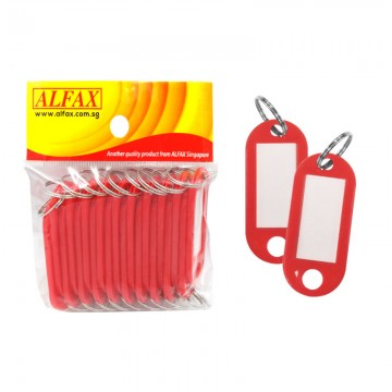 ALFAX  KT332 Key Tag Round Edge 5cm 20's Red