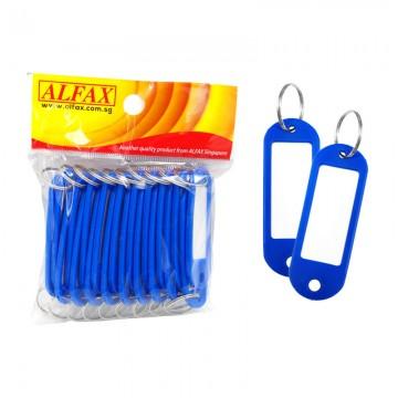 ALFAX  KT333 Key Tag Round Edge 6cm 20's Blue