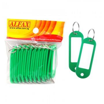 ALFAX  KT333 Key Tag Round Edge 6cm 20's Green